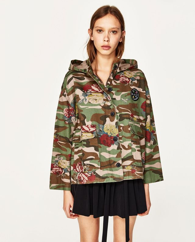 Zara x Maui and Sons Camouflage Jacket with Hood