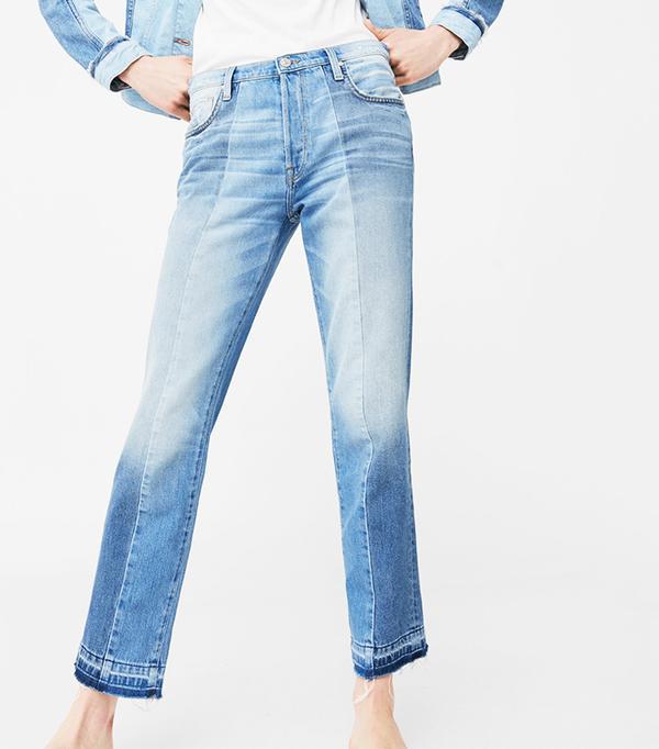 Mango Straight Crop Mix Jeans