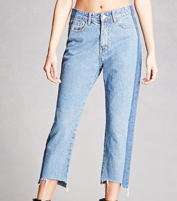 Forever 21 Momokrom Contrast-Wash Jeans