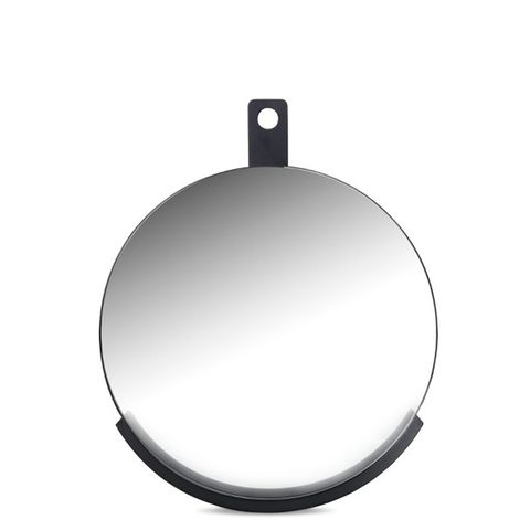 Round Metal Shelf Mirror
