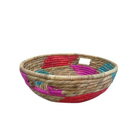 Pink Short Woven Basket