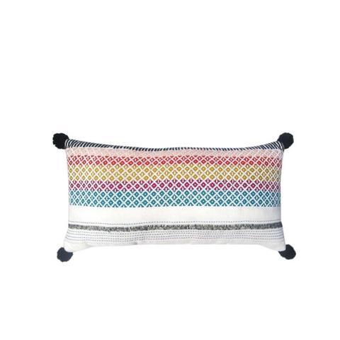 Woven Tassel Lumbar Pillow