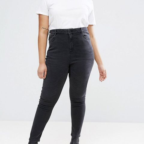 Ridley High Waist Skinny Jeans in Quintessential Washed Black