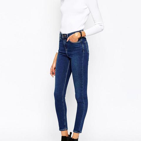 Ridley High Waist Skinny Jeans in Botanic Dark Stonewash