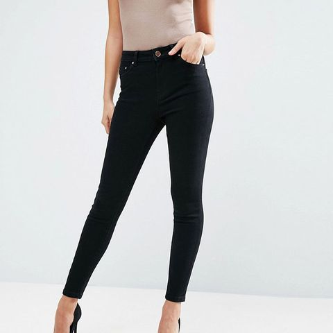 Ridley High Waist Skinny Jeans in Clean Black