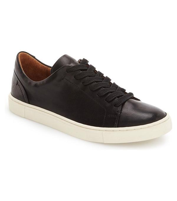 best classic black sneakers- frye ivy sneakers