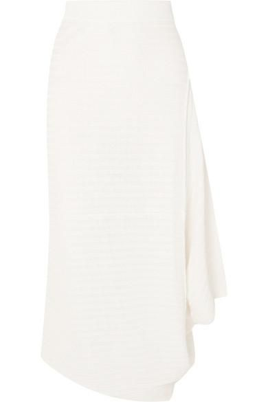 J.W.Anderson Infinity Asymmetric Ribbed Linen Midi Skirt