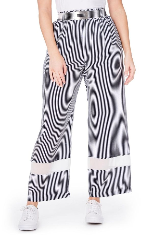 Elvi Stripe Wide Leg Trousers