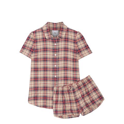 Amy Plaid Cotton-Flannel Pajama Set
