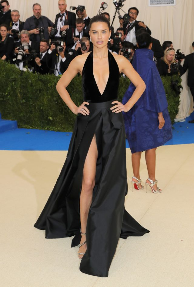 WHO: Adriana Lima WEAR: Alberta Ferretti dress; Giuseppe Zanotti shoes; Chopard jewellery.