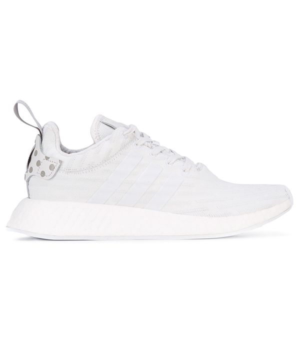 best white Adidas sneakers: NMD_R2 Primeknit Shoes