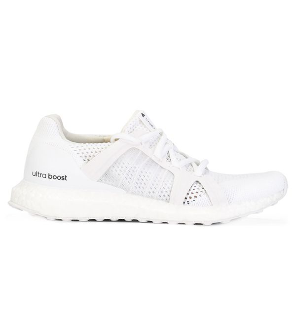 best white Adidas sneakers: Adidas by Stella McCartney Ultra Boost Trainers