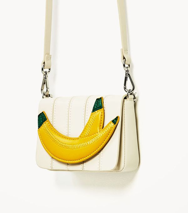 Best novelty handbags:  Zara banana crossbody bag
