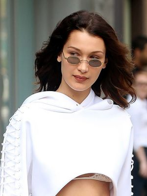 Take a Closer Look at What's Holding Bella Hadid's Shirt Together