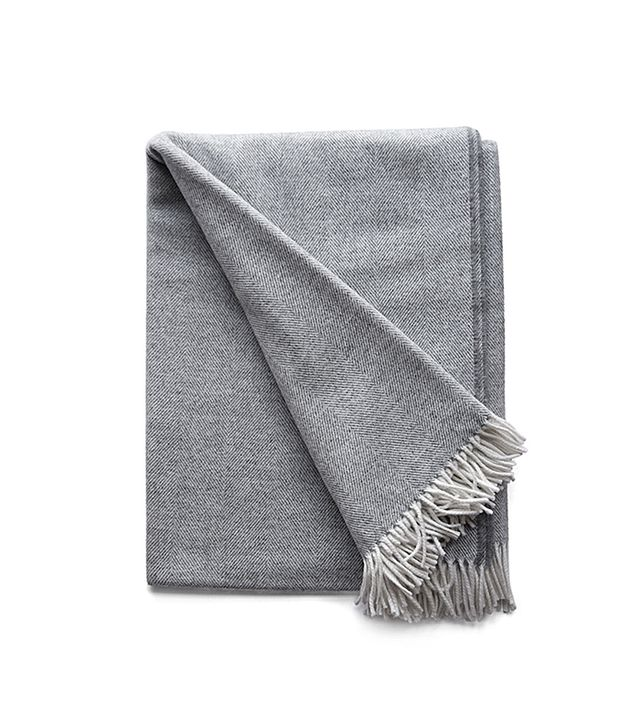 Simply Birch Irish Wool Herringbone Throw