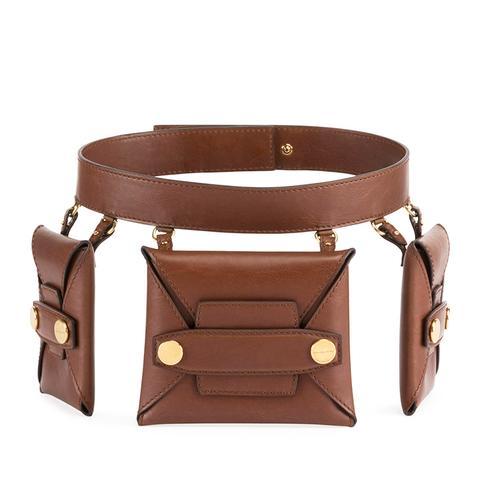 Faux Leather Trio Belt Bag