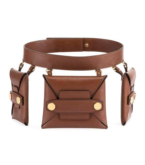 Stella McCartney Faux Leather Trio Belt Bag