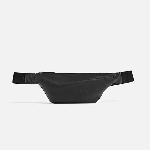 Leather Pleated Belt Bag