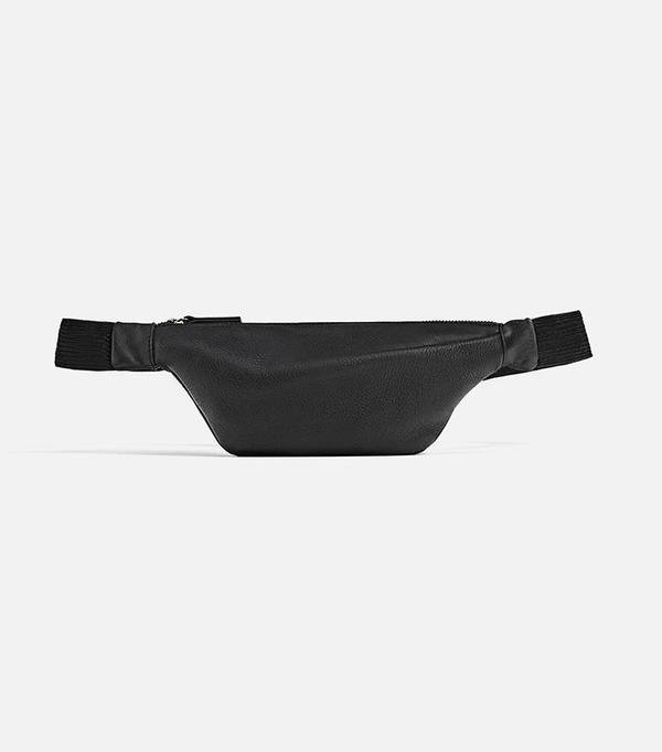 Zara Leather Pleated Belt Bag