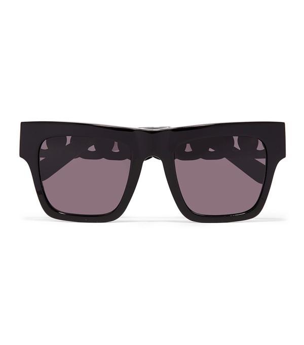 dc fashion - Stella McCartney Oversized Square-Frame Acetate and Gold-Tone Sunglasses