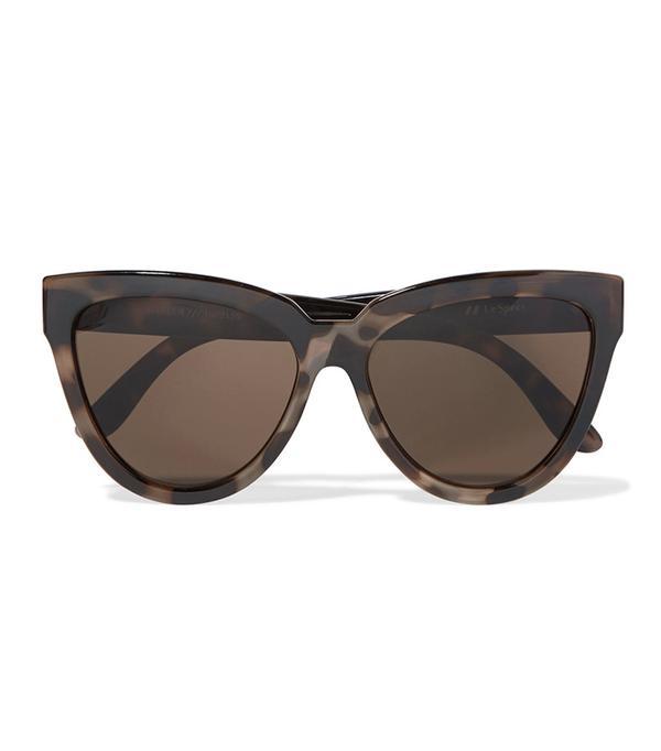 dc fashion - Le Specs Liar Lair Cat-Eye Tortoiseshell Acetate Sunglasses