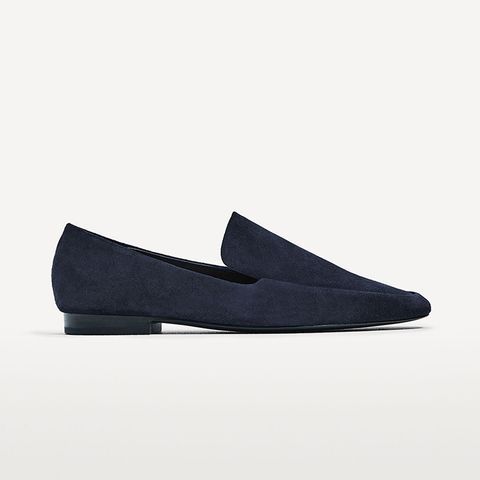 Split Leather Loafers