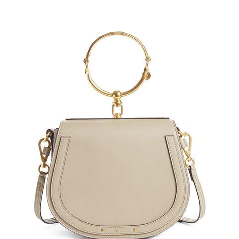 Medium Nile Leather Bracelet Saddle Bag