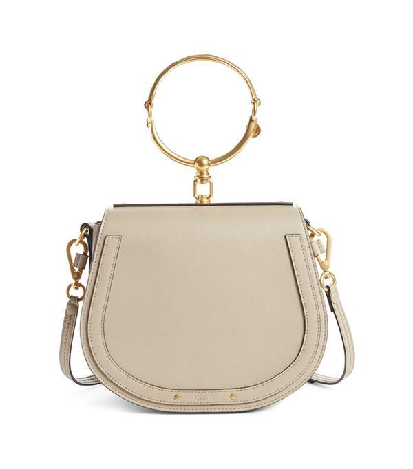 dc fashion - Chole Medium Nile Leather Bracelet Saddle Bag