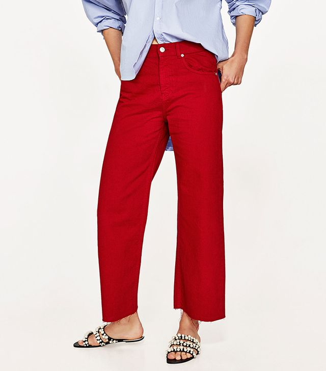 best red pants