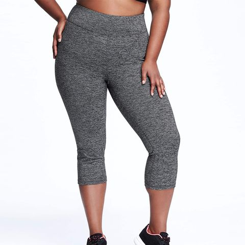 Go-Warm Fitted Plus-Size Compression Crops