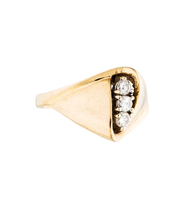 The RealReal 14K Diamond Cocktail Ring
