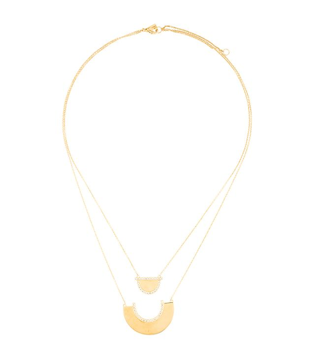 Elizabeth and James Double Strand Crystal Necklace