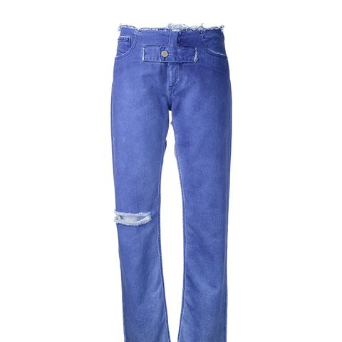 Front Strap Tapered Jeans
