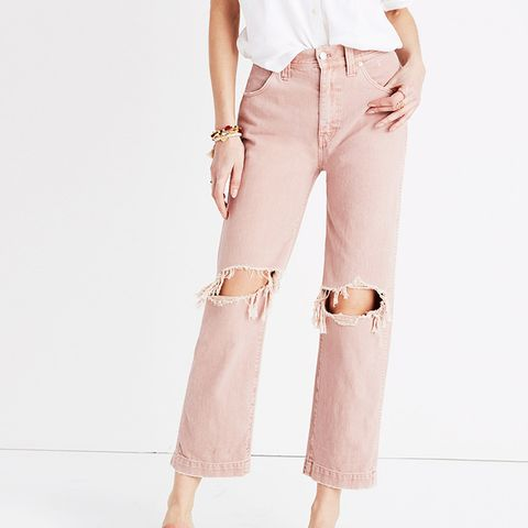 Slim Straight Crop Jeans