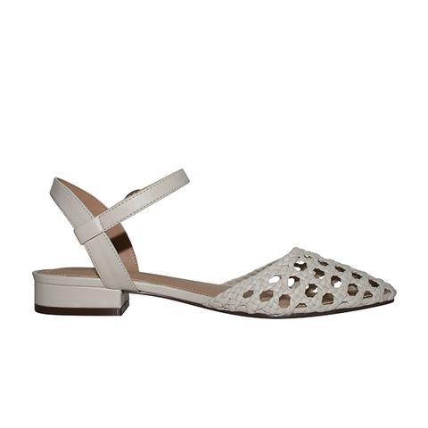 Evelyn Macrame Ankle Strap Flat Quarter Strap Sandals