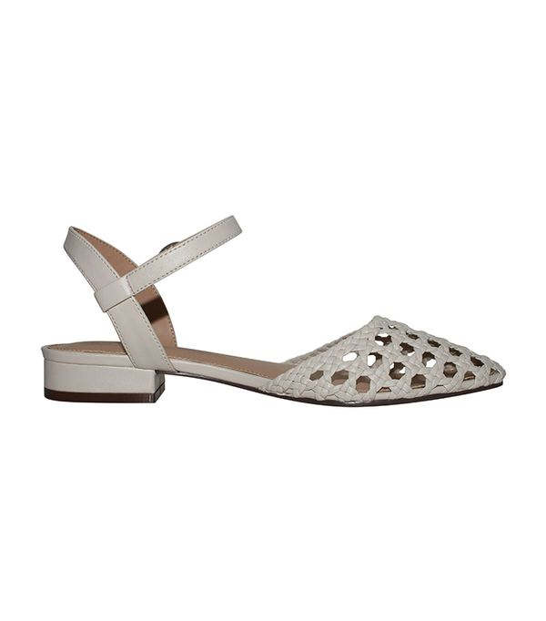 Who What Wear Collection Evelyn Macrame Ankle Strap Flat Quarter Strap Sandals
