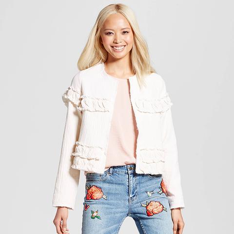 Gauze Ruffle Jacket