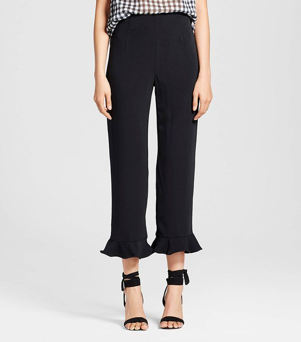 Who What Wear Collection Ruffle Hem Crop Pant