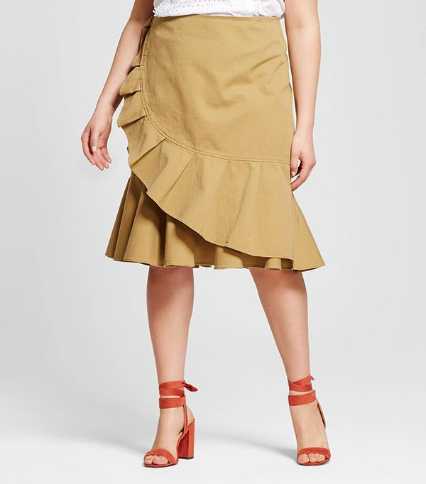 Who What Wear Collection Ruffle Wrap Skirt