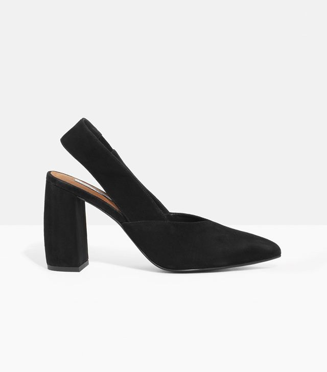 & Other Stories Suede Slingback Pumps