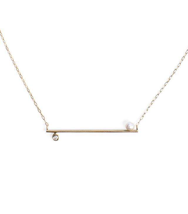 Catbird Horizontal Bar Necklace