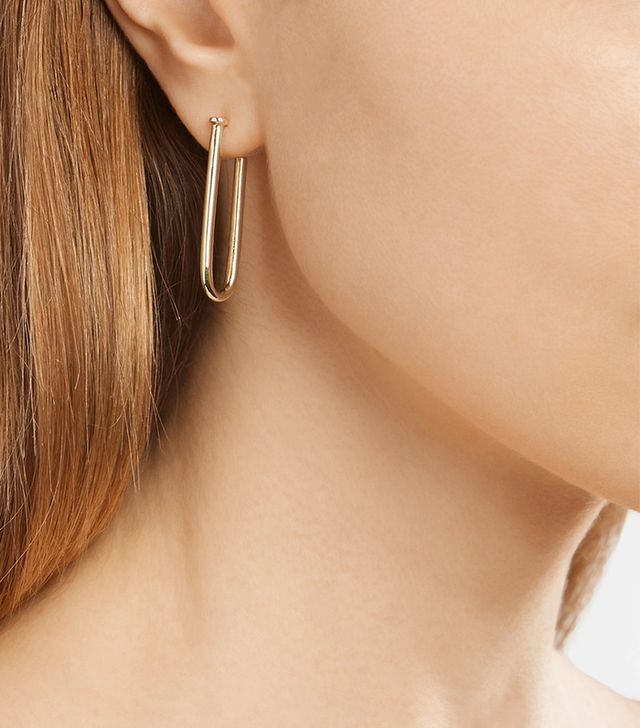 Jennifer Fisher Set of Three Small Pipe Gold-plated Earrings