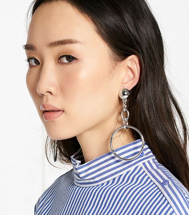 Pomelo Chain And Hoop Earrings