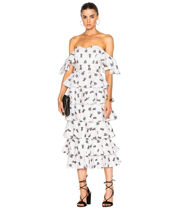 Caroline Constas Irene Ruffle Dress