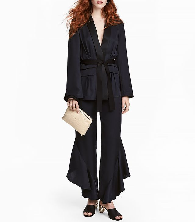 H&M Silk-blend Flounced Pants