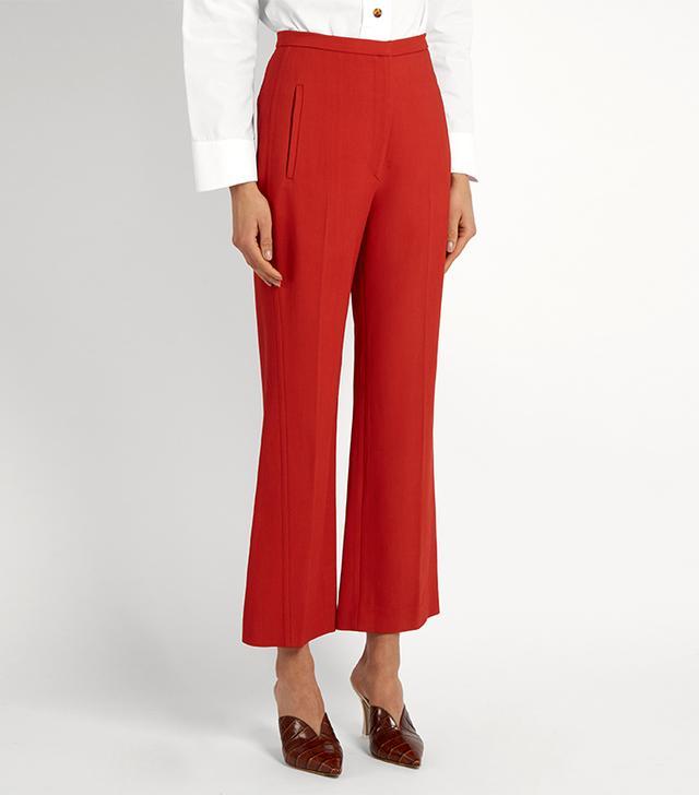 Khaite Audrey Straight-leg Cropped Trousers