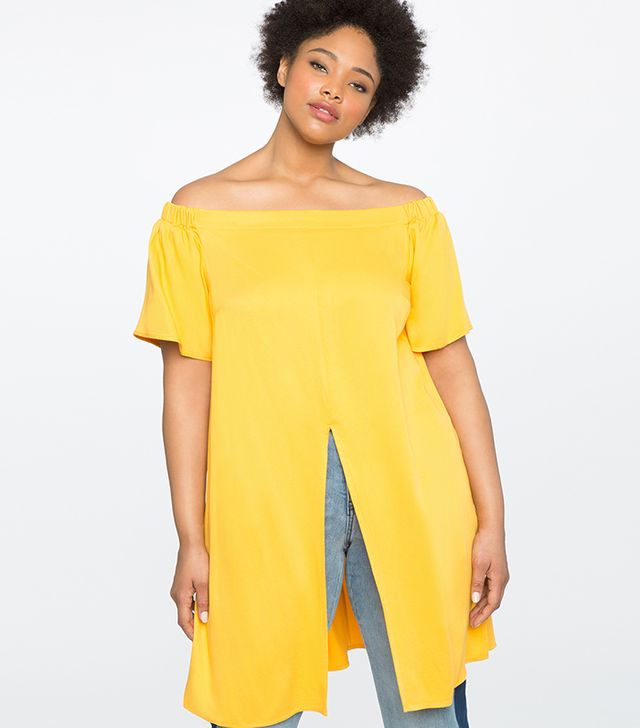 Eloquii Studio Off the Shoulder Tunic with Vent