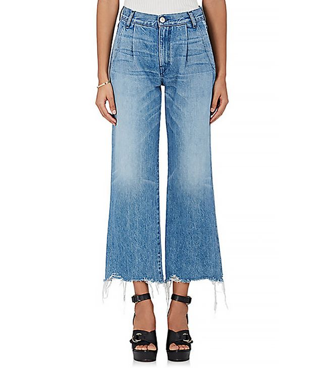 3x1 W4 Shelter Pleated Crop Jeans
