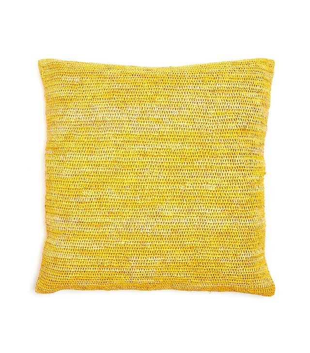 Sil'ouette Crochet Raffia Pillow