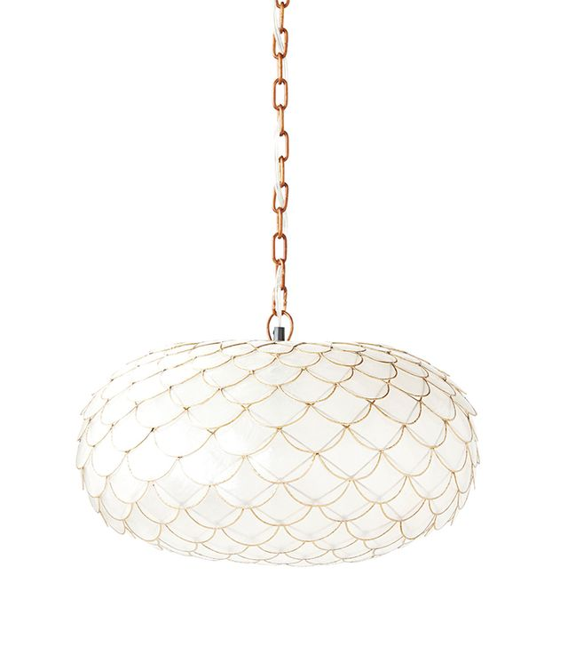 Serena & Lily Capiz Scalloped Chandelier